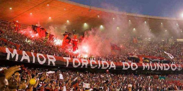 Torcida do Flamengo Final da Libertadores chegando