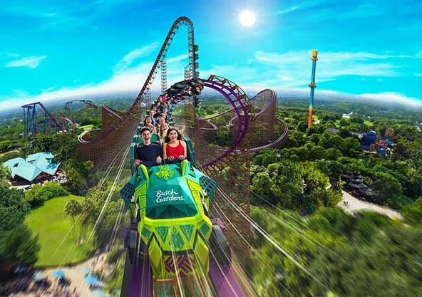 Busch Gardens Iron Gwazi novidades seaworld