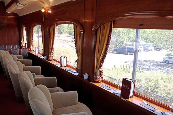 Poltronas do Wine Train