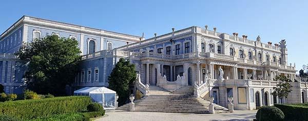Palácio de Queluz, inverno em Portugal