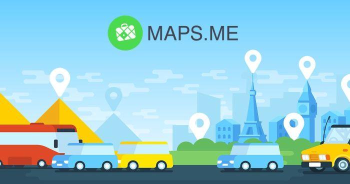 aplicativo de viagem - maps.me