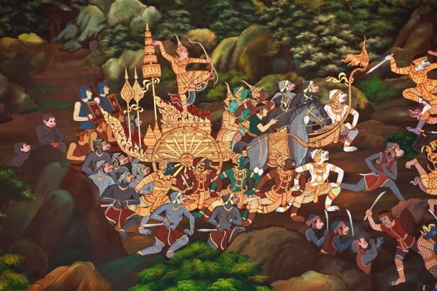 Ramayana Epic Thai Ramakien Wall Mural