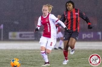 2018-02-09 Ajax vrouwen - Excelsior Barendrecht- 00008