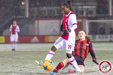 2018-02-09 Ajax vrouwen - Excelsior Barendrecht- 00012