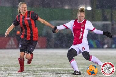 2018-02-09 Ajax vrouwen - Excelsior Barendrecht- 00013