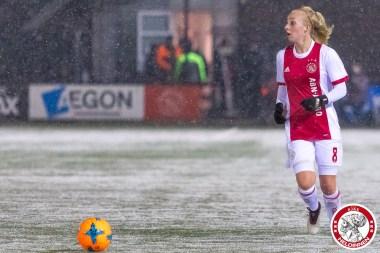2018-02-09 Ajax vrouwen - Excelsior Barendrecht- 00016