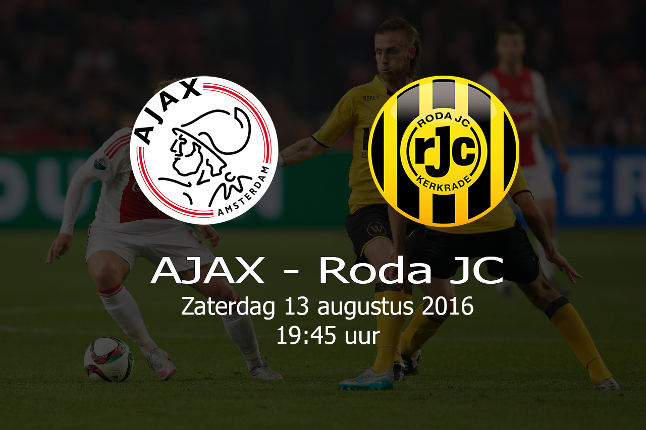 AJAX – Roda JC – 20160813
