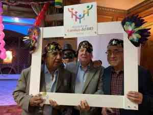 Retirees at the carnival party organized by the IDB Family Association
