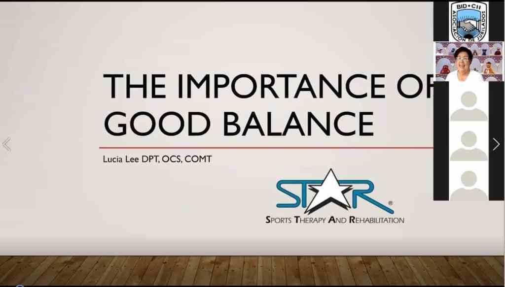Clase virtual de equilibrio y prevención de caídas