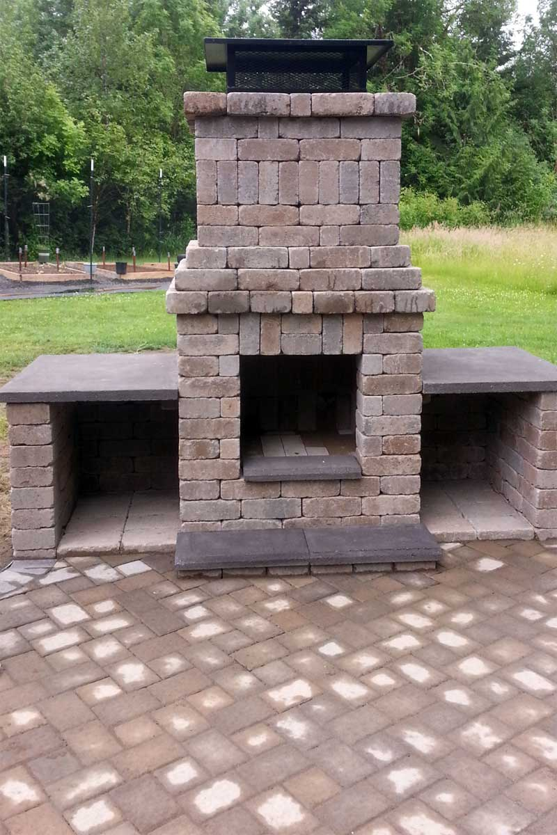 Chehalis Outdoor Fire Pit, Matching Paver Patio - AJB ... on Pavers Patio With Fire Pit id=18066