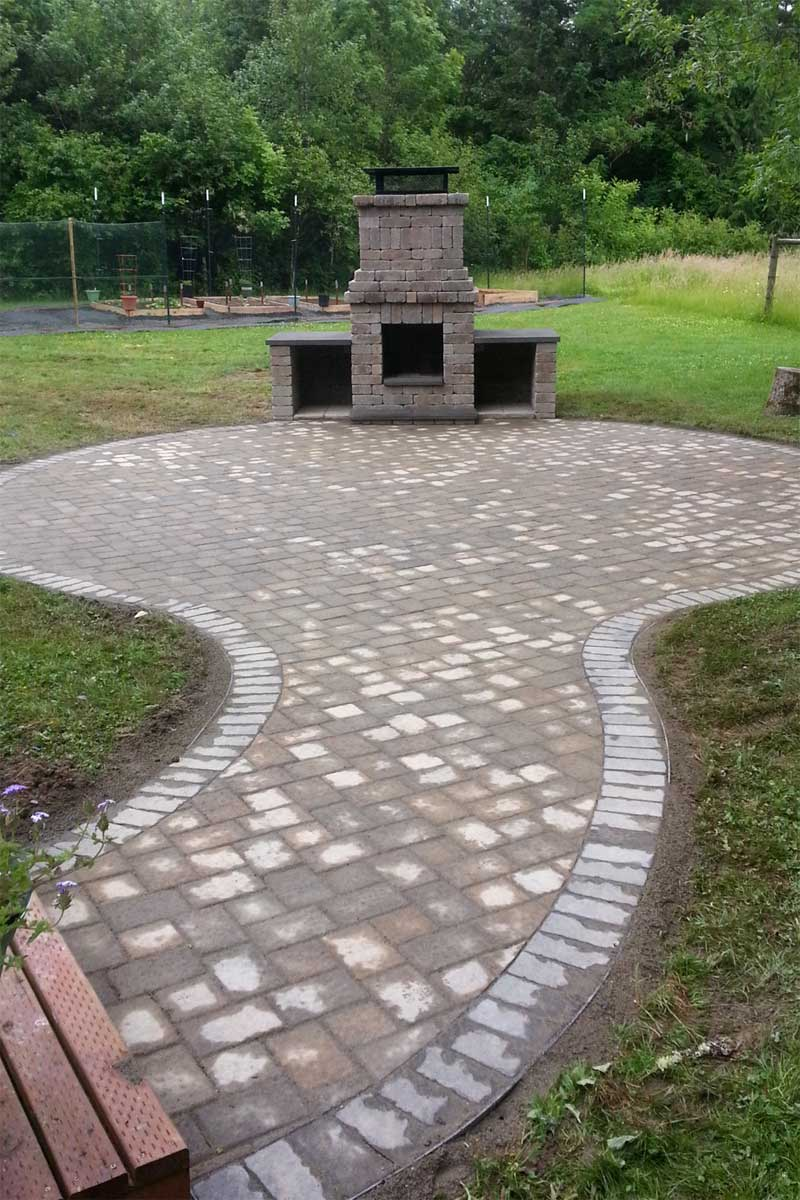 Chehalis Outdoor Fire Pit, Matching Paver Patio - AJB ... on Paver Patio With Fire Pit Ideas id=75255