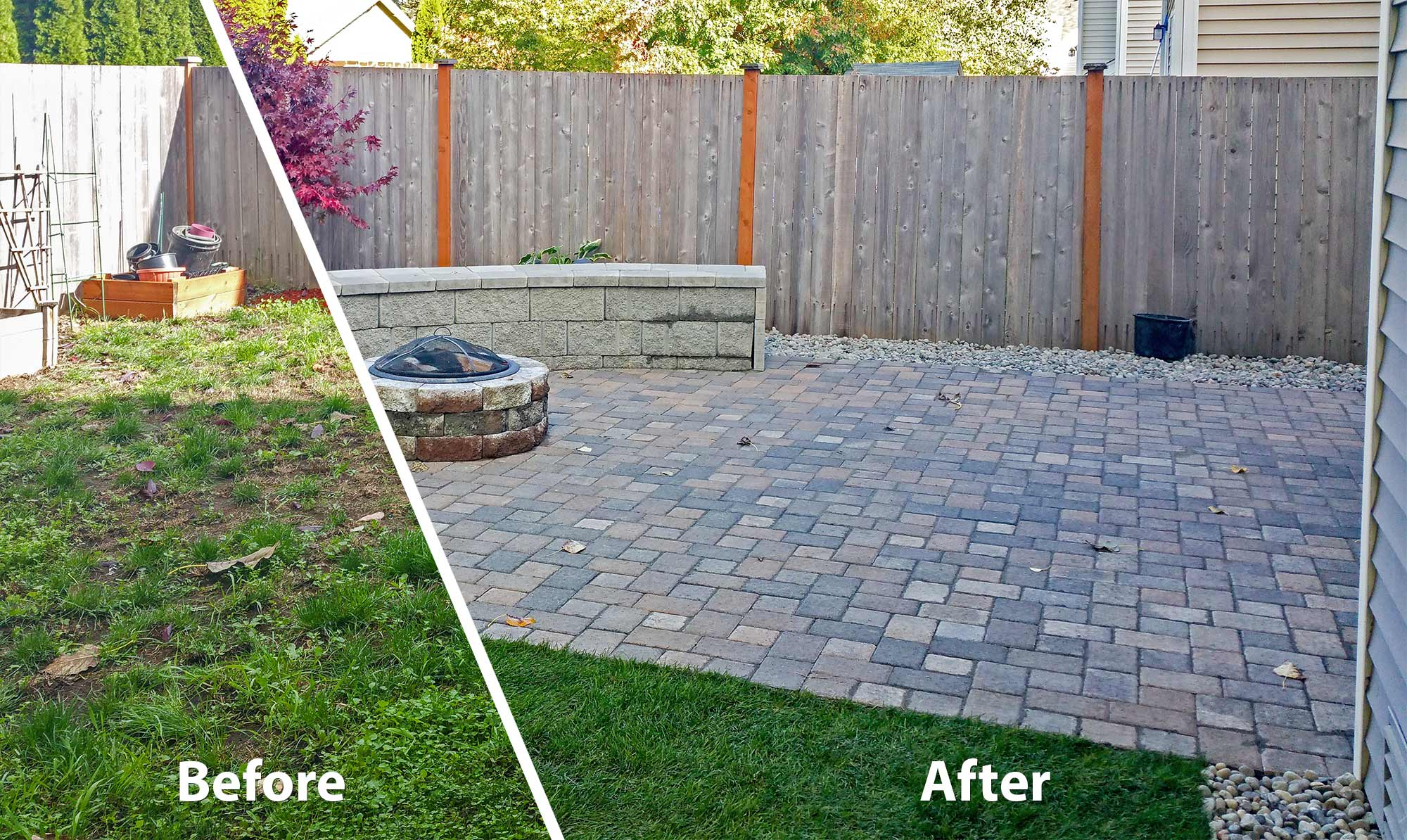 backyard transformation in tumwater