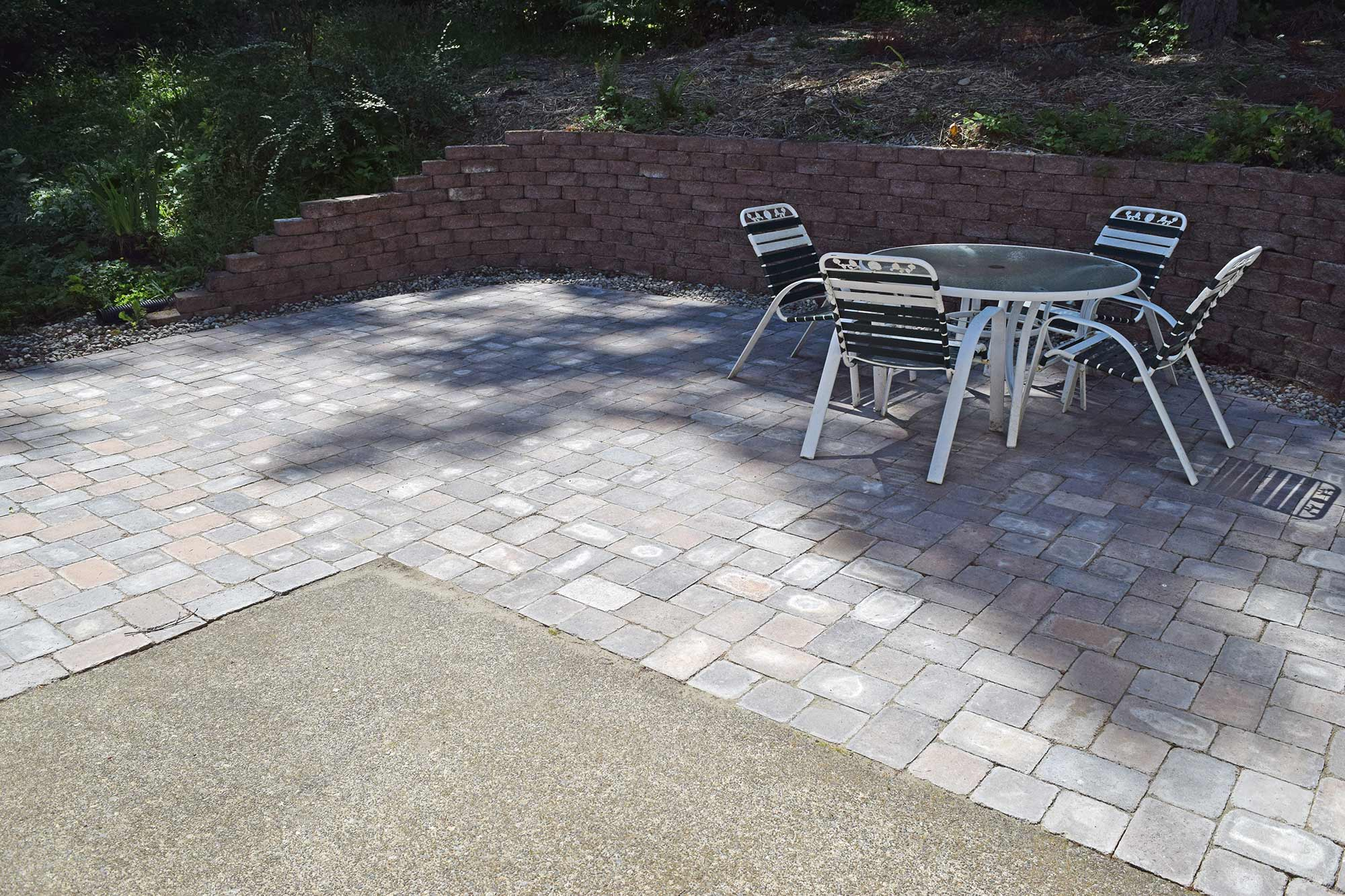 west olympia paver patio extension
