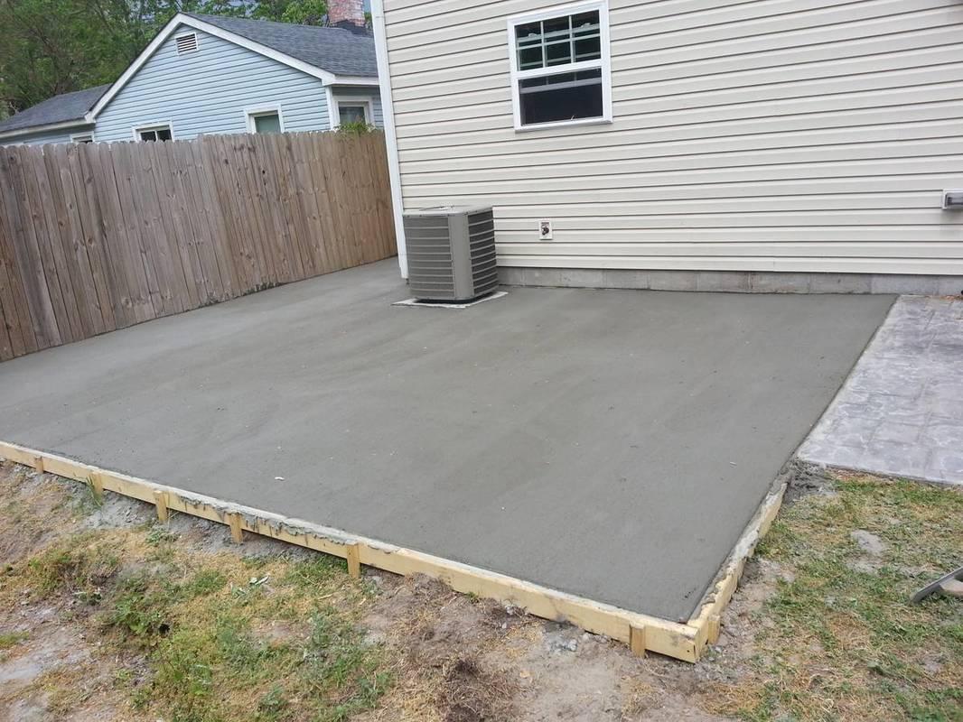 Concrete Driveway & Patio of Virginia Beach - Contractors on Concrete Slab Backyard Ideas id=48295