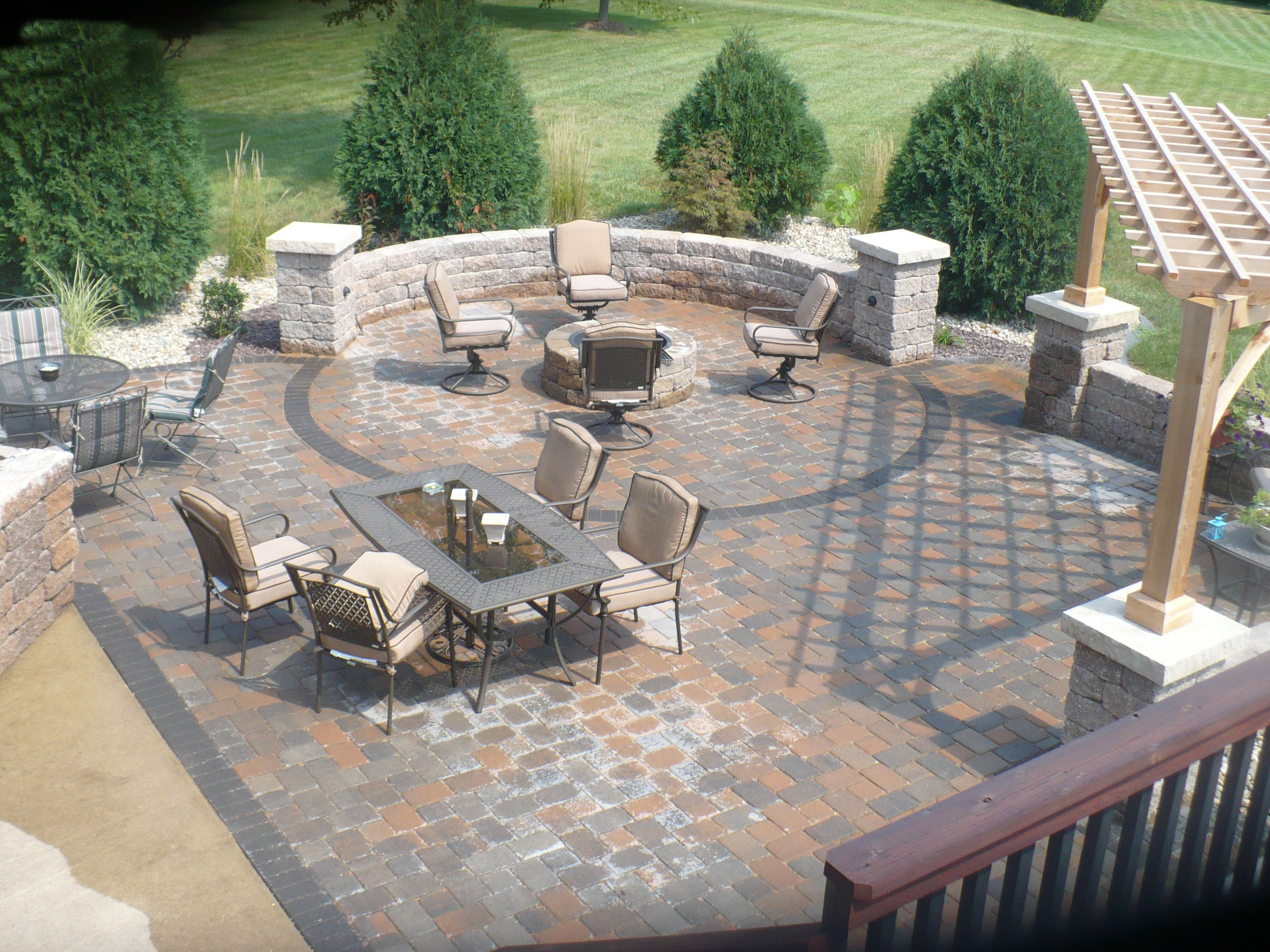 Patios - AJD Landscaping - Collinsville, IL on Patio Stone Wall Ideas id=76617