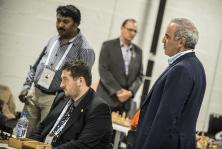 Gary Kasparov observando una partida. Fotografo : David Llada