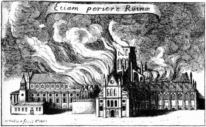 St. Paul's in Flames.