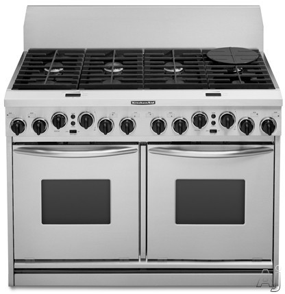 KitchenAid KDRP487MSS 48 Pro Style Dual Fuel Range With 6