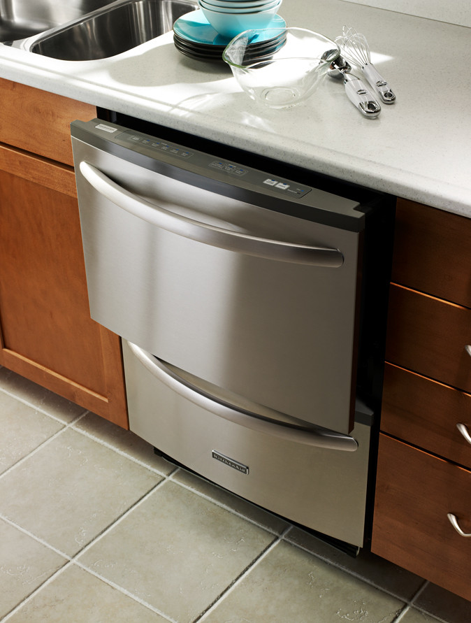 KitchenAid KUDH03DT Fully Integrated Double Drawer Dishwasher With 5 Wash Cycles 3 Options