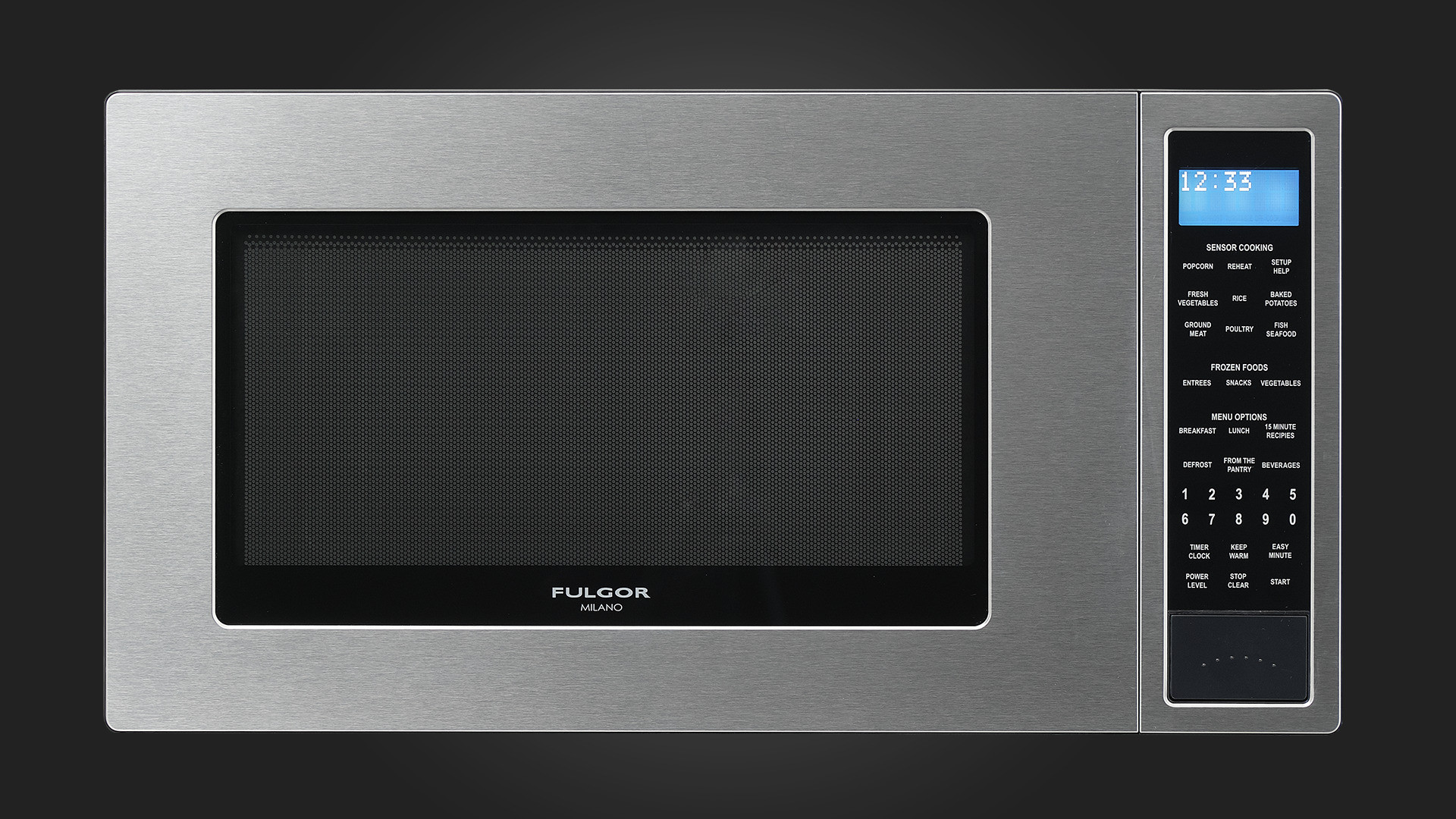 fulgor milano 24 inch countertop microwave oven