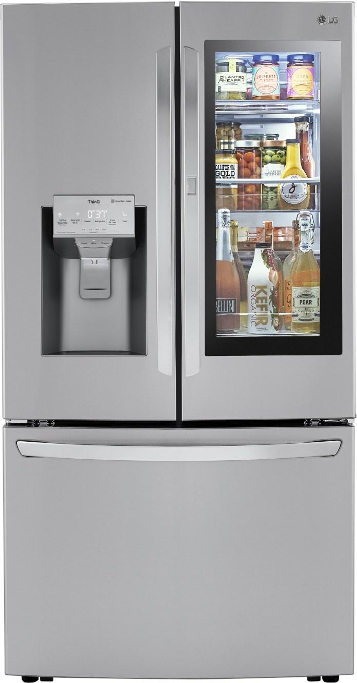 Lg Lrfvc2406s 36 Inch Counter Depth 3 Door French Style Smart Refrigerator With 23 5 Cu Ft Capacity Instaview Door In Door With Craft Ice Maker Dual Ice Water Dispenser Wifi Smart Cooling Plus Lodecibel Operation