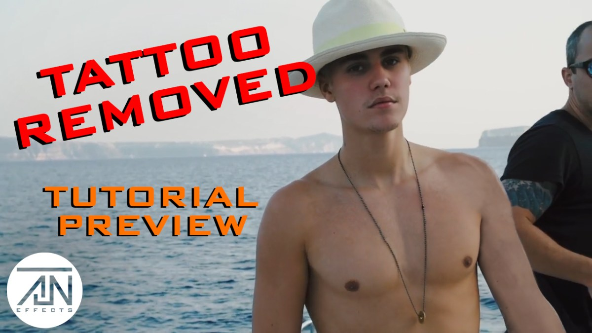 Justin Bieber Tattoo Removal Nuke Tutorial Preview