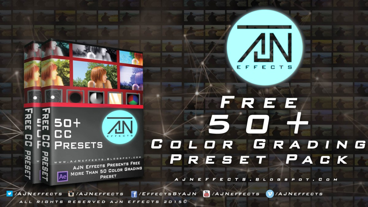 Free 50+ Color Grading Preset Pack For After Effects (Free Download)