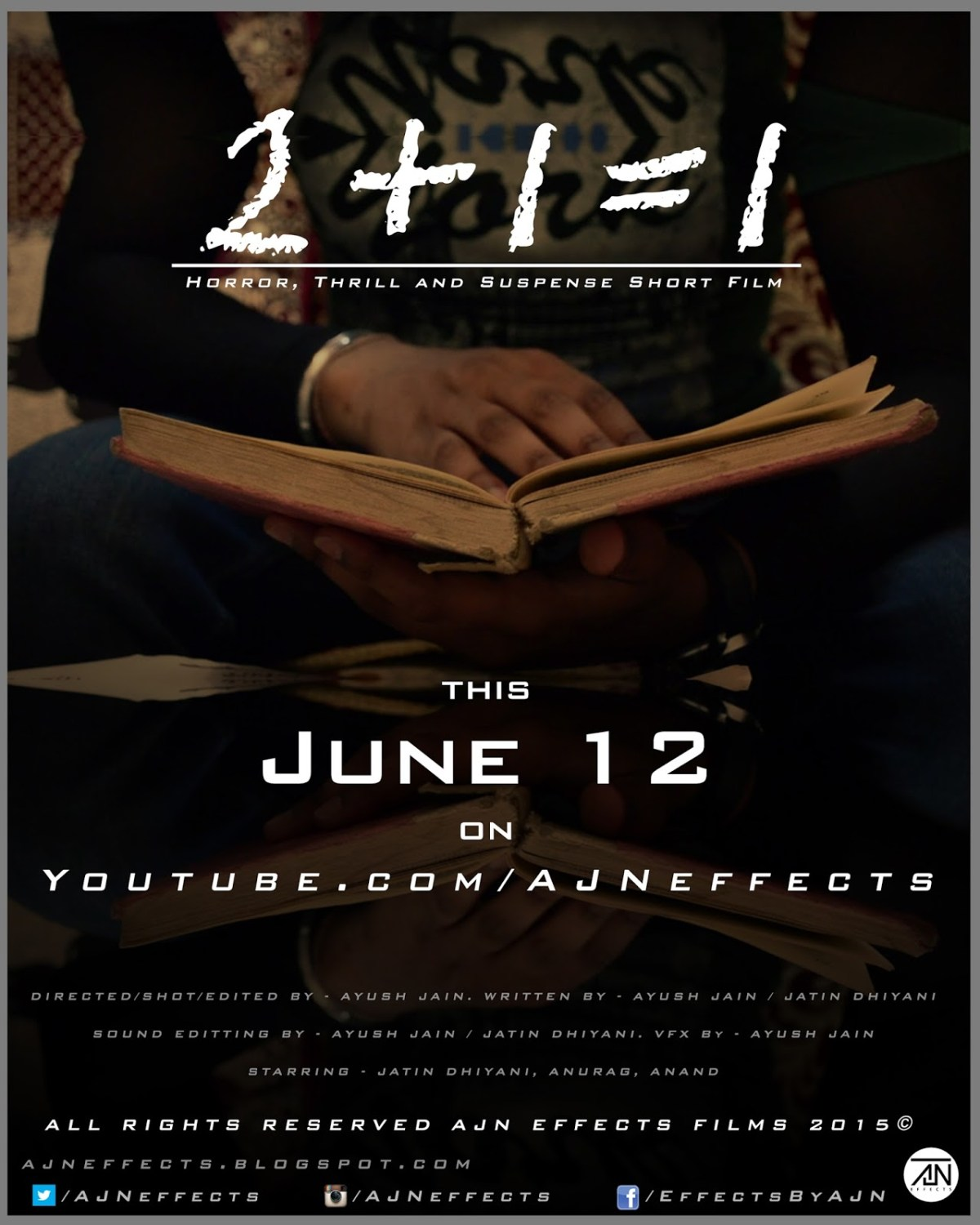 2+1=1 Official Poster. AJN Effects Film long poster