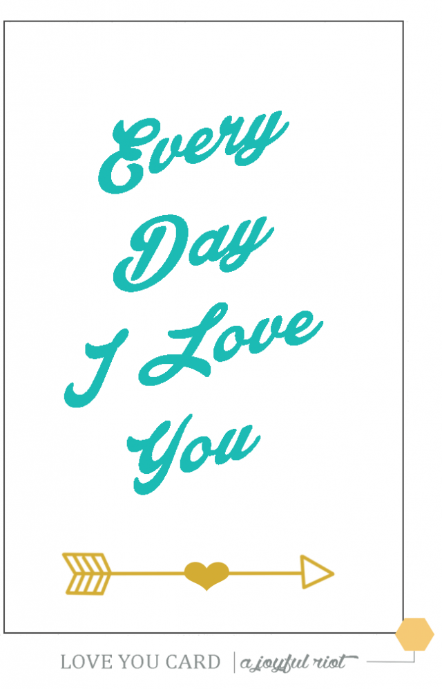 image about I Love You Because Printable known as No cost Printable- I appreciate on your own card A Pleased Rebel