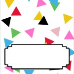 Confetti Food Tent Signs   Free Printable Friday