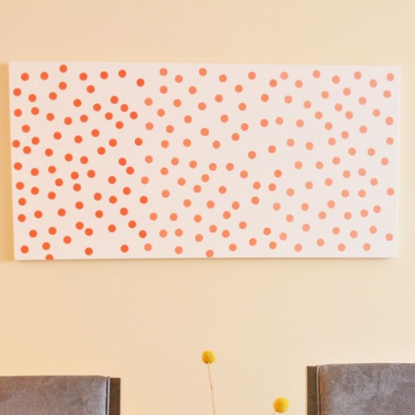 Dotted Ombre Canvas Art