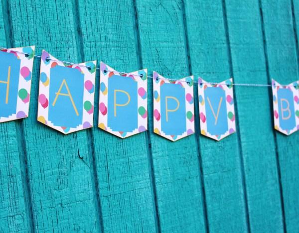 Happy Birthday Bunting Banner | Free Printable Friday