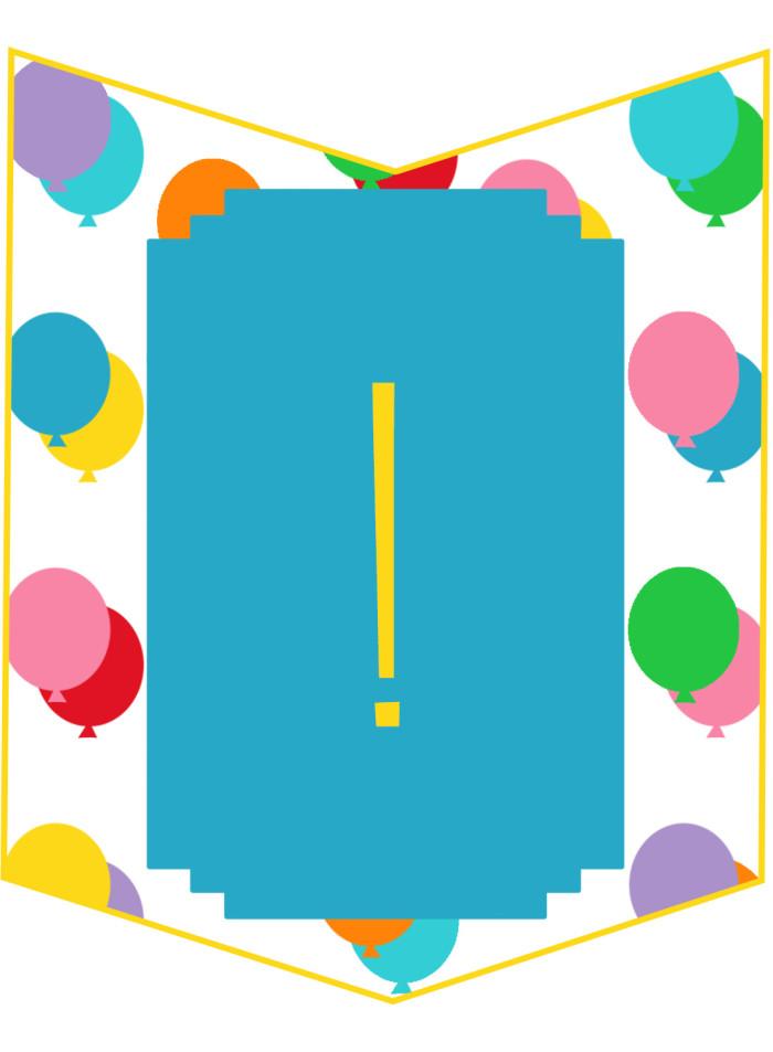 free printable birthday bunting banner ajoyfulriot.com @ajoyfulriot