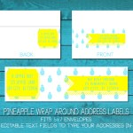 Pineapple Wrap Around Address Labels | Free Printable Friday