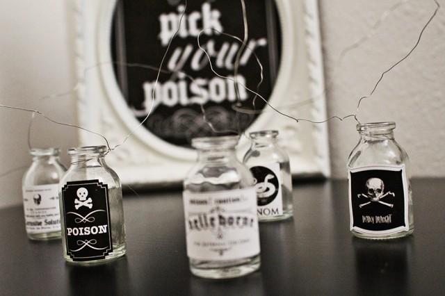 picture regarding Free Printable Halloween Poison Bottle Labels named Poison Labels Consume Desk Indicator Totally free Printables A