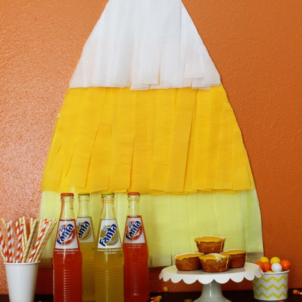 Fringed Candy Corn Backdrop
