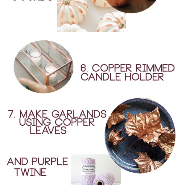 Party Inspiration: Copper and Purple Thanksgiving