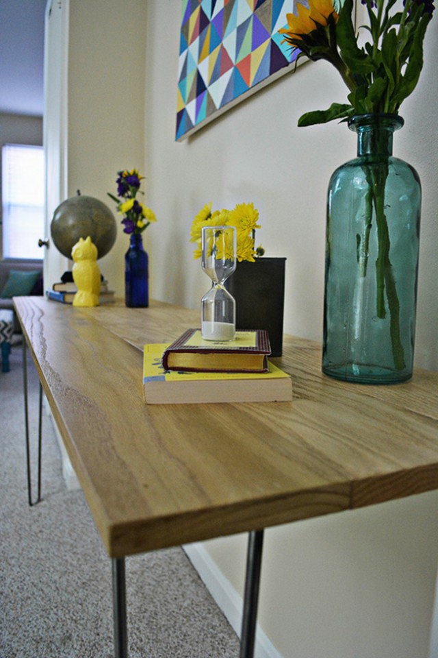 Foyer Table Hairpin Legs : Diy hairpin leg entryway table a joyful riot
