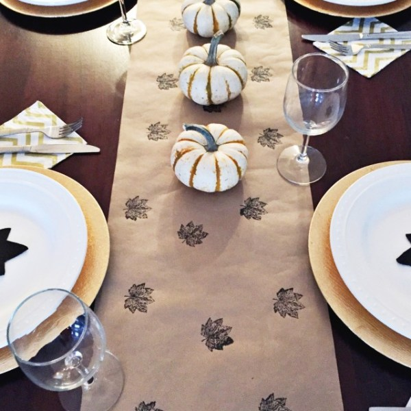 Easy Stamped Table Runner