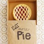 DIY Cardboard Pie Box