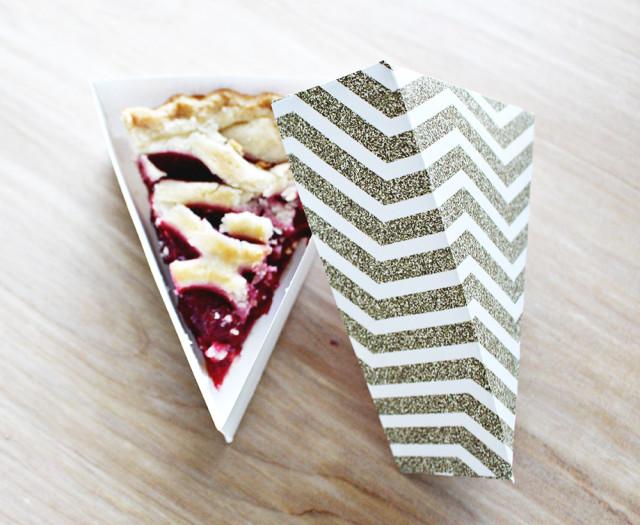 Free Printable Pie Wedge Boxes | A Joyful Riot @ajoyfulriot
