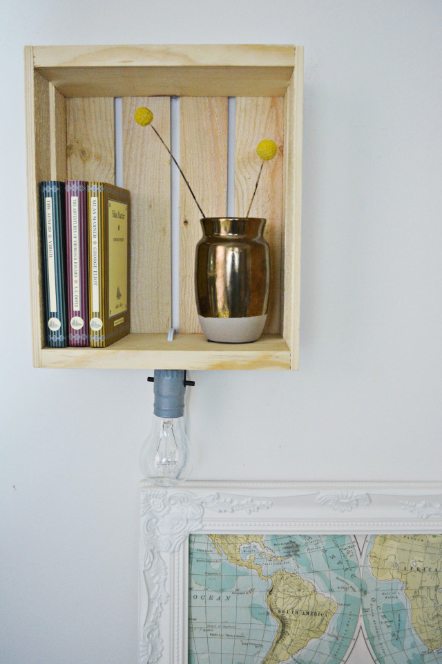 DIY Shelf Sconce | A Joyful Riot @ajoyfulriot