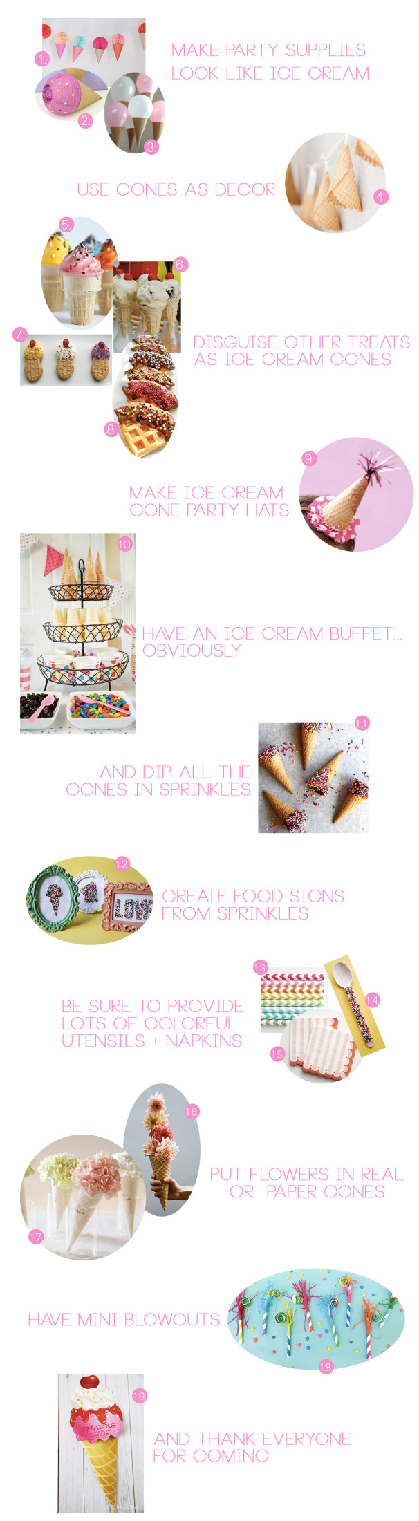 Ice Cream Party Inspiration and Ideas. Crafts, Food, Decor and Favors @ajoyfulriot