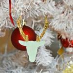 Glitter Deer Ornaments