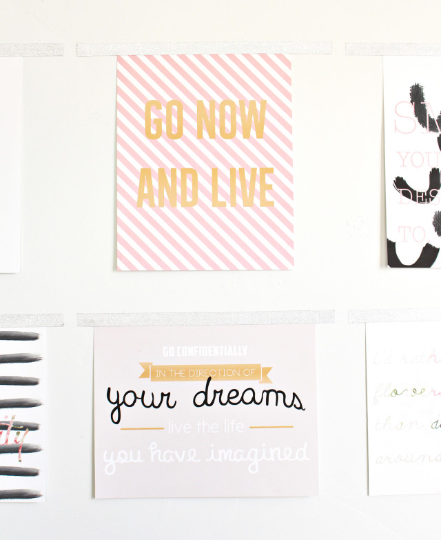 6 different free printable quotes.  Inspiring 8 x  10 prints | A Joyful Riot