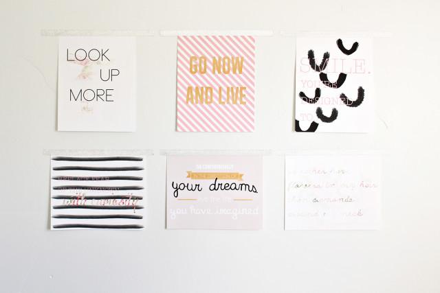 6 FREE quote prints. Inspirational 8 x 10 poster printables | A Joyful Riot