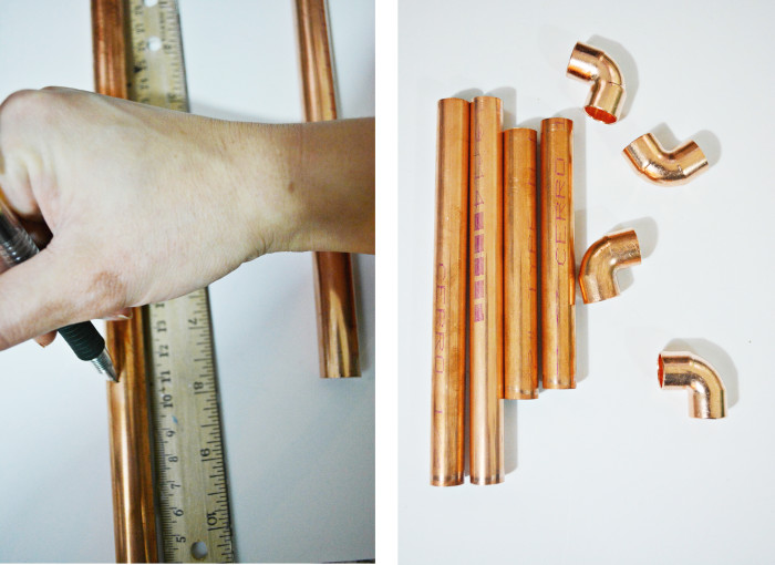 copper frames step1