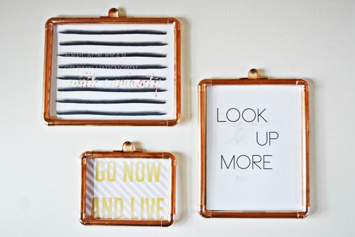 diy copper frames copper frames1 copy - Diy Photo Frames