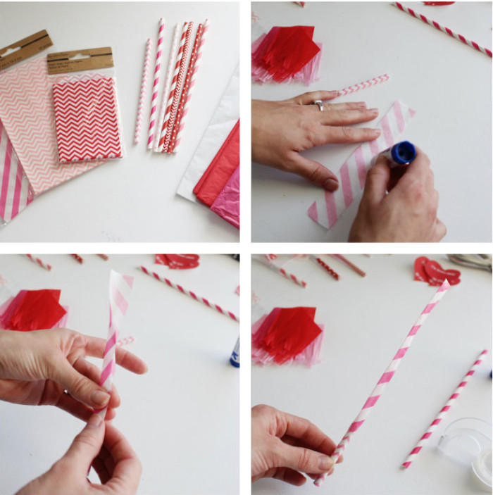 Make cute Valentine party blowouts with paper straws and then use this free printable to hand them out!   A Joyful Riot