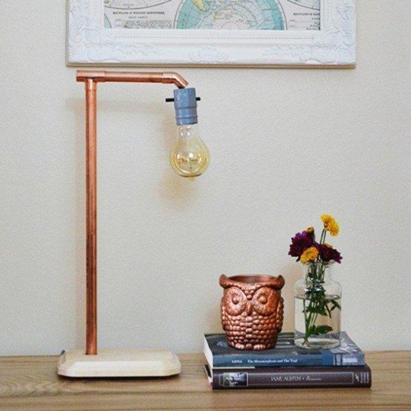 DIY Copper Lamp